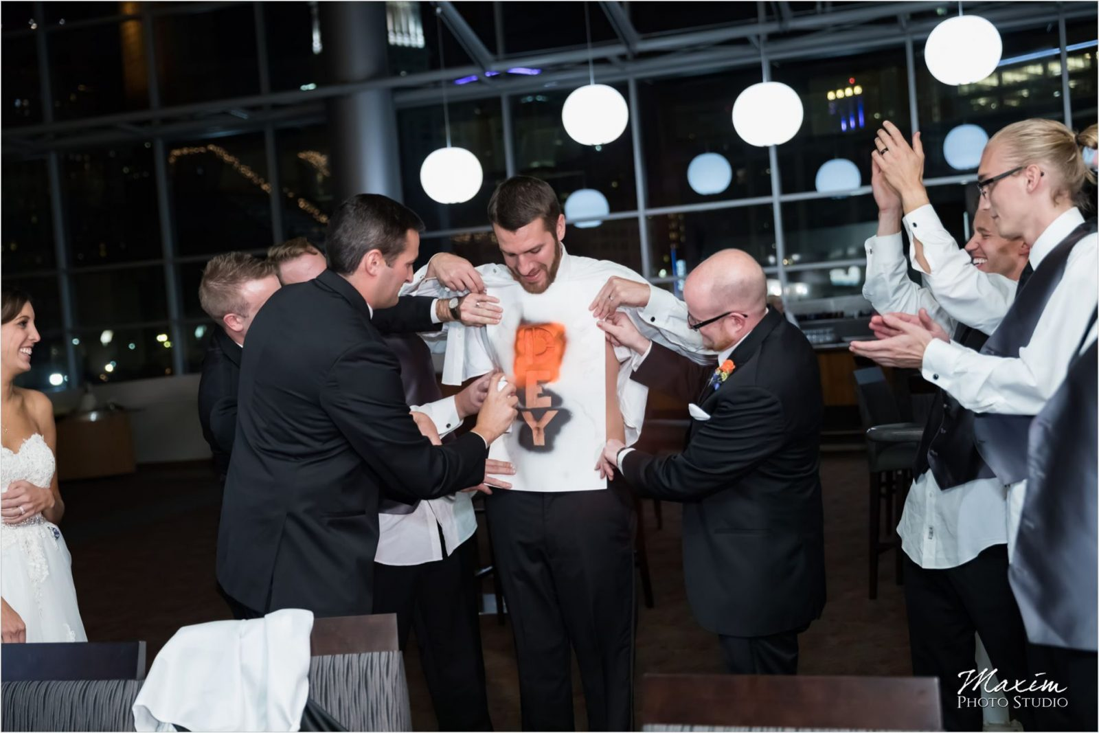 Paul Brown Stadium Cincinnati Wedding Reception