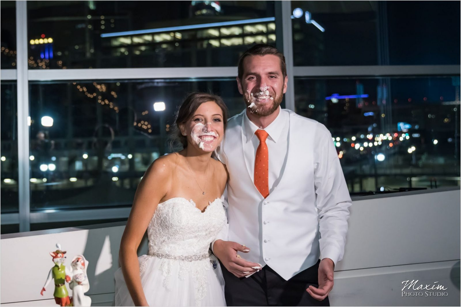 Paul Brown Stadium Cincinnati Wedding Reception Cake