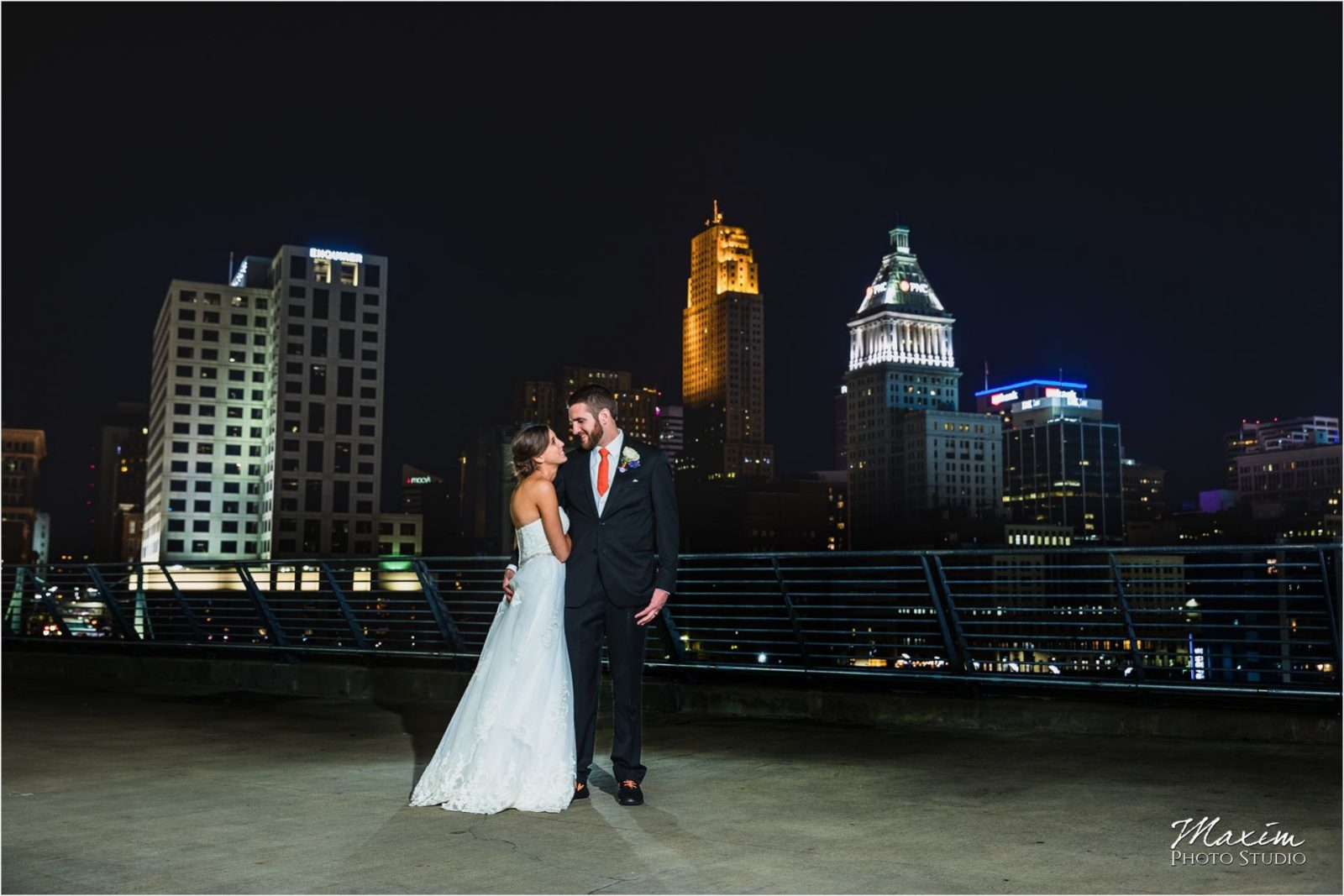 Paul Brown Stadium Cincinnati Skyline Wedding Reception