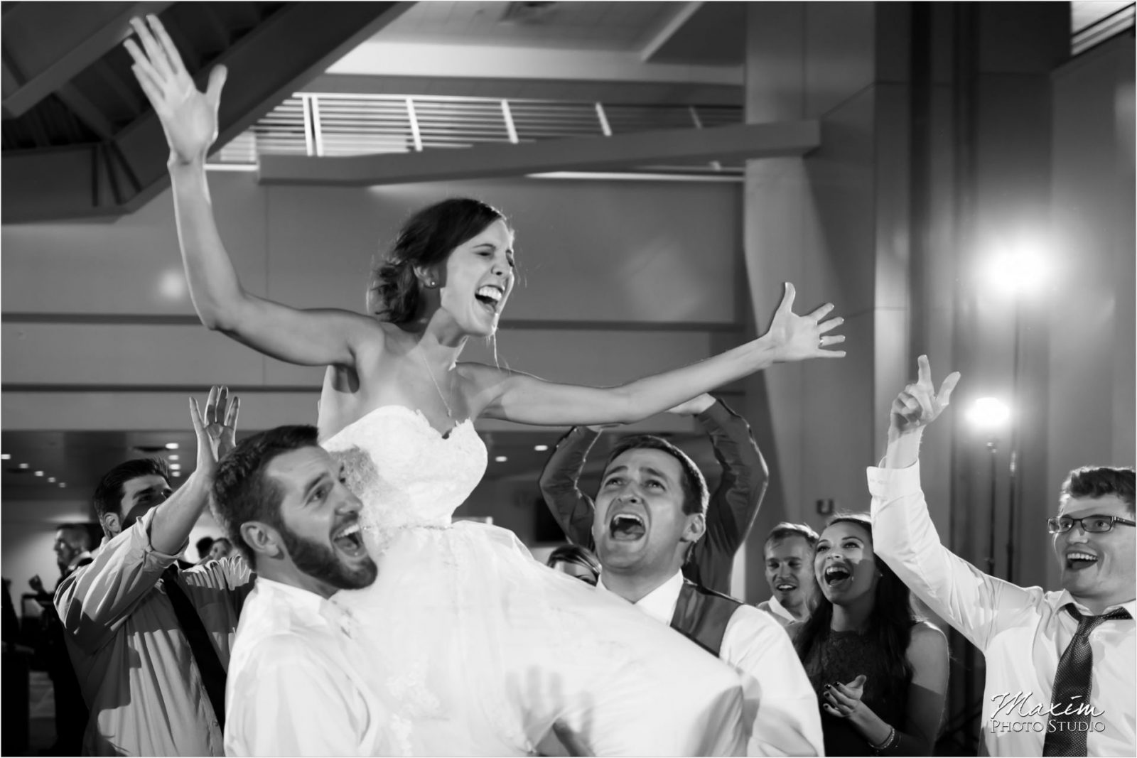 Paul Brown Stadium Wedding Reception Dance Party
