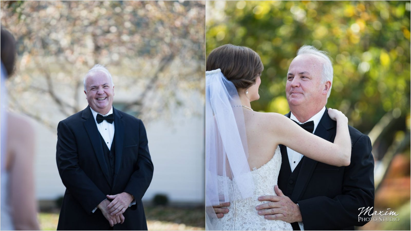 Cincinnati Bride wedding portraits dad