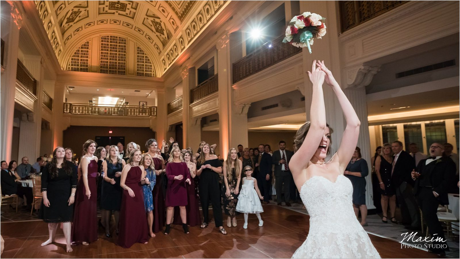 Renaissance Hotel Cincinnati Wedding reception bouquet