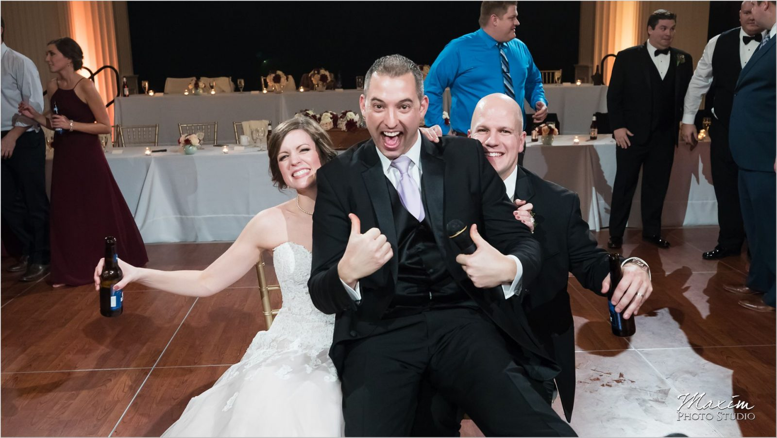 Renaissance Hotel Wedding reception photo bomb Jeff Clarke Party Pleasers