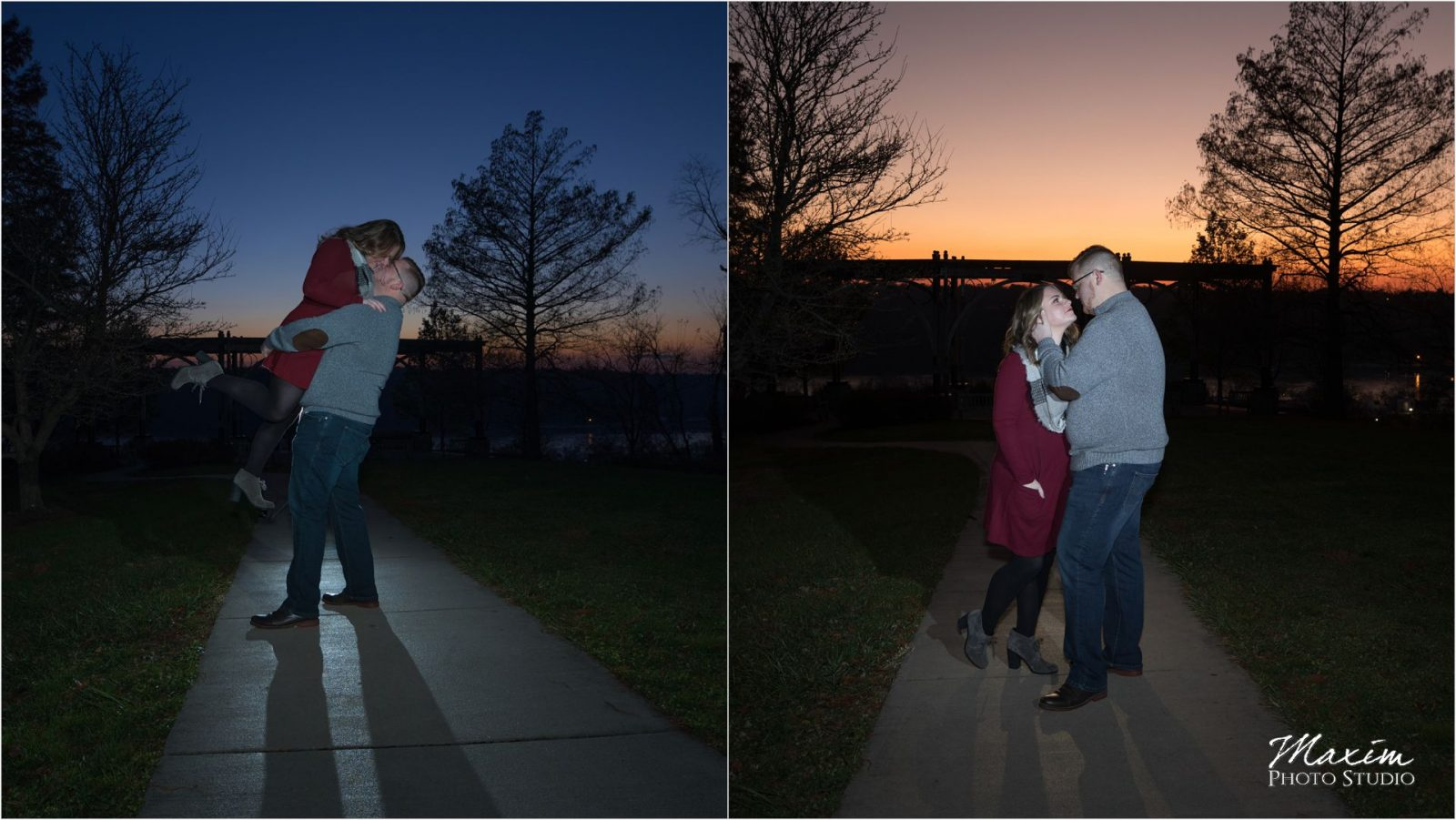 Alms Park Sunset Cincinnati Engagement