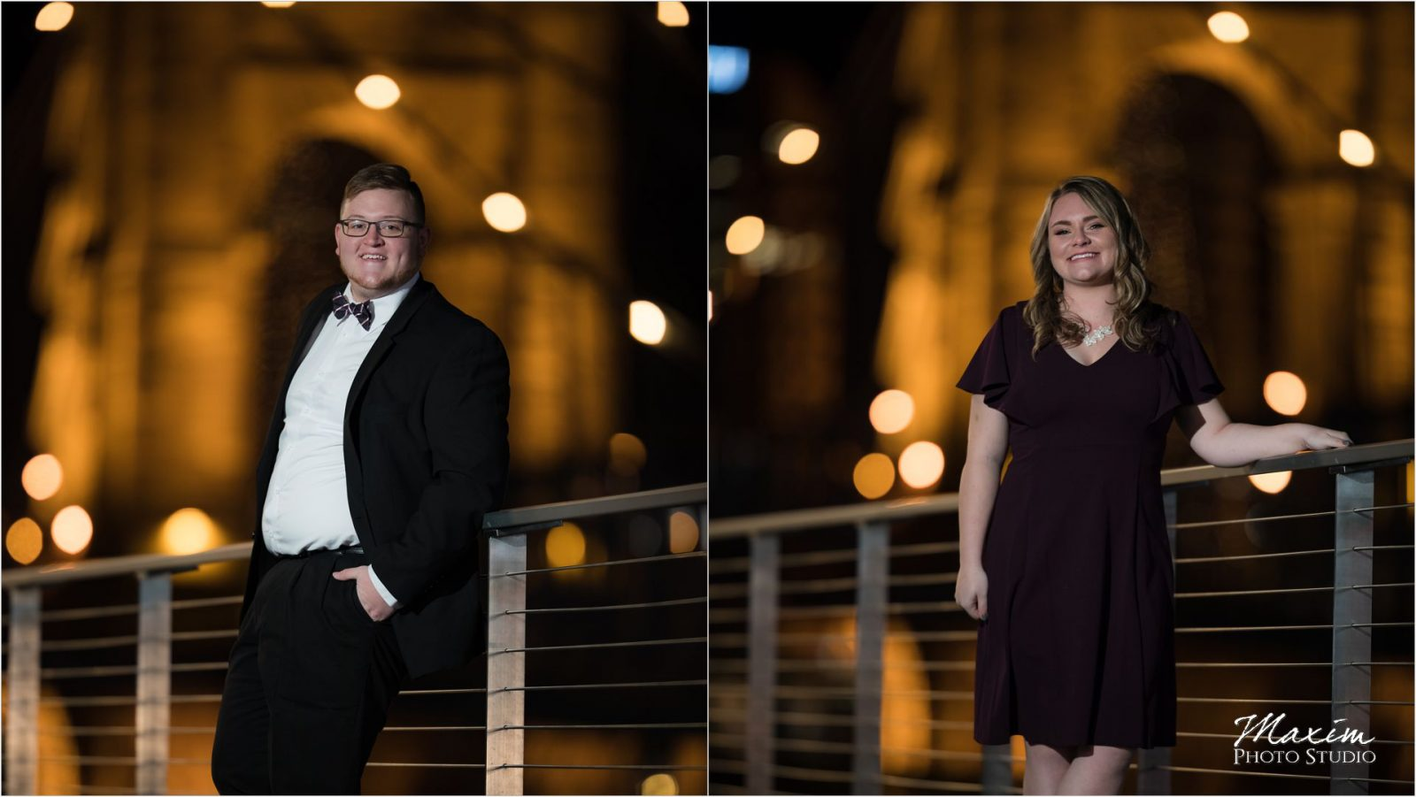 Smale Riverfront Park Night engagement