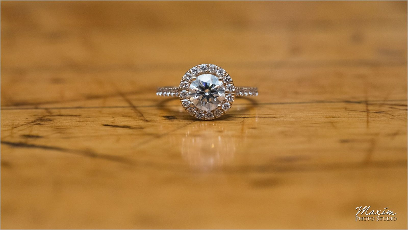 Atlanta Piedmont Park Night engagement wedding ring
