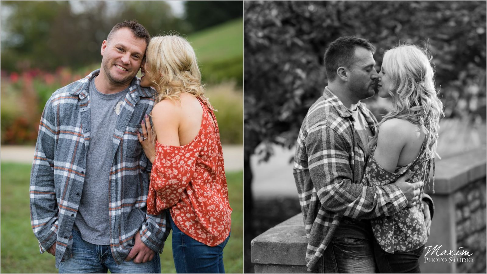 Ault Park Cincinnati Fall Engagement