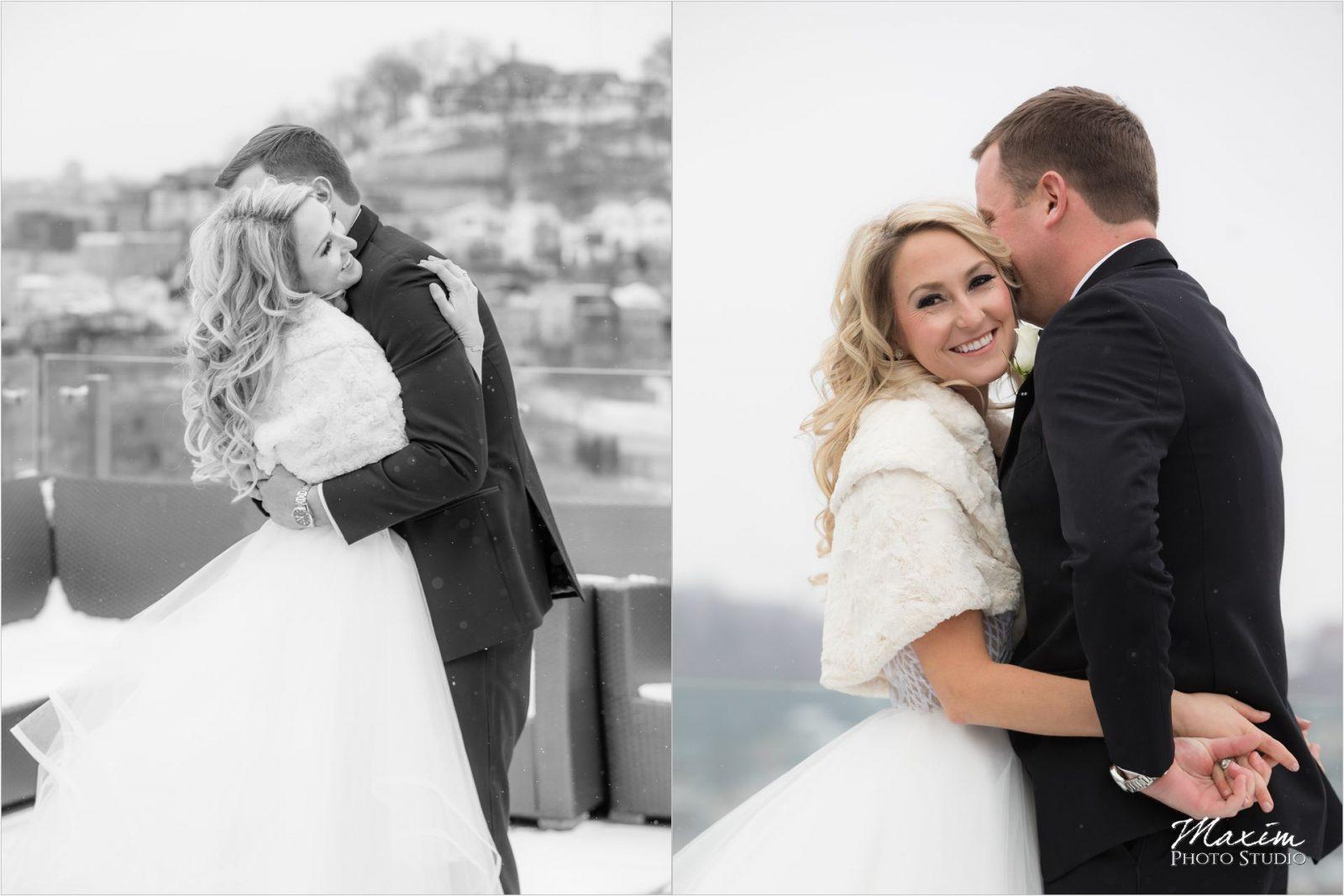 CinciCincinnati Wedding Photography winter Bride Groomnnati Wedding Photography winter Bridal Party