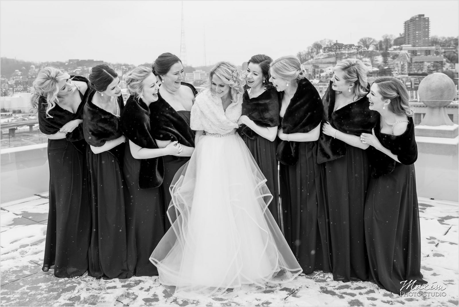 Cincinnati Wedding Photography winter Bridal Party