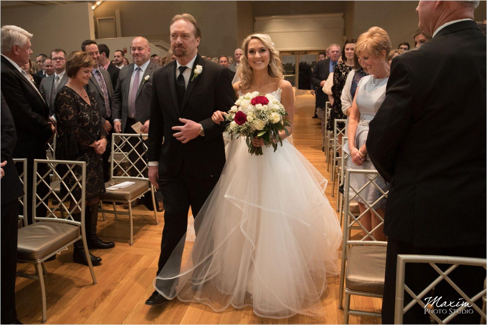 Cincinnati Music Hall Ballroom Wedding Ceremony Bride Groom