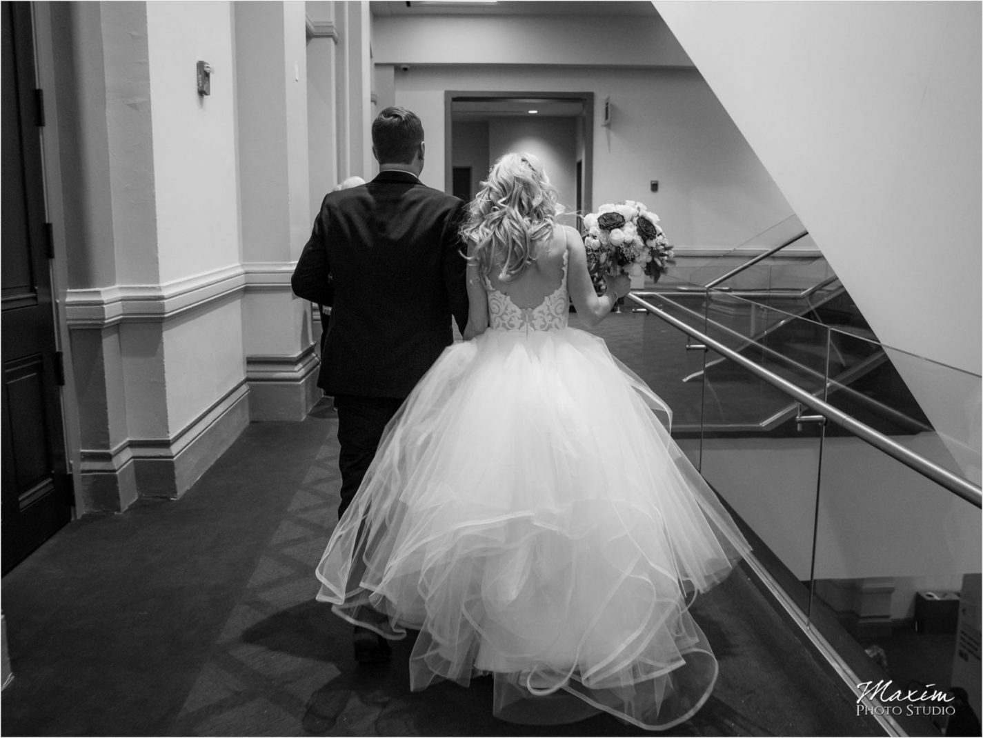 Cincinnati Music Hall Wedding Bride Groom