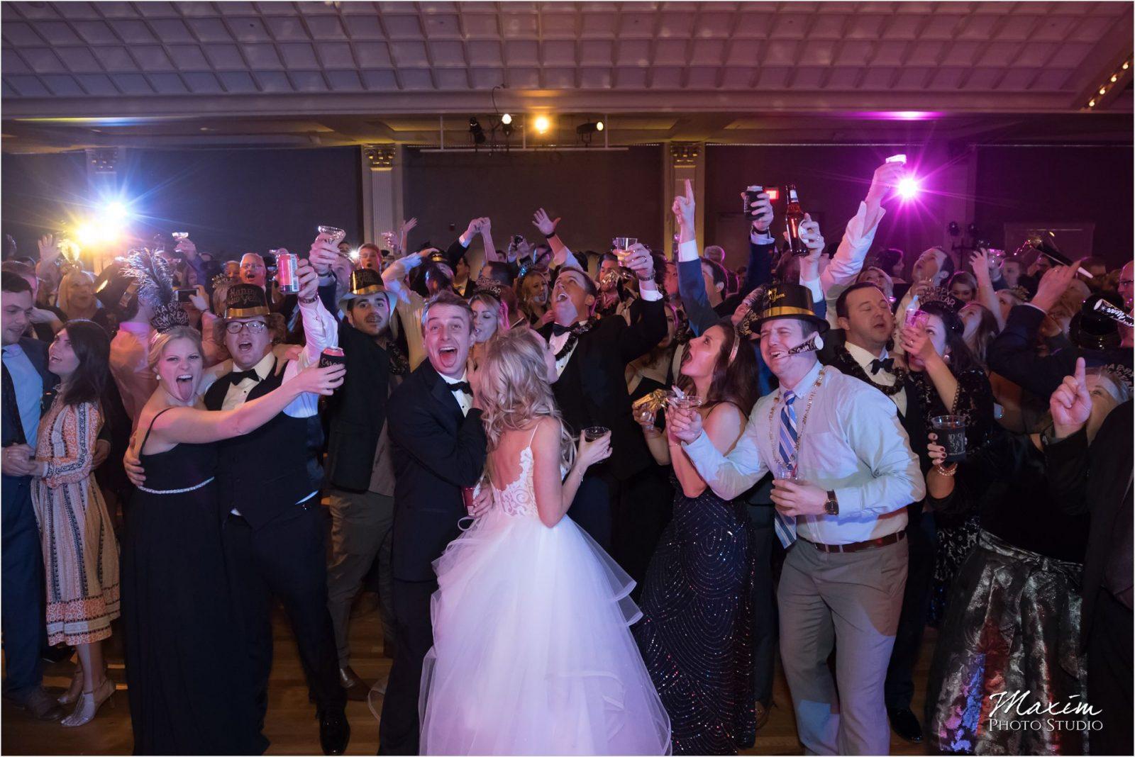 Cincinnati Music Hall Ballroom Wedding Reception Dance Balloon drop