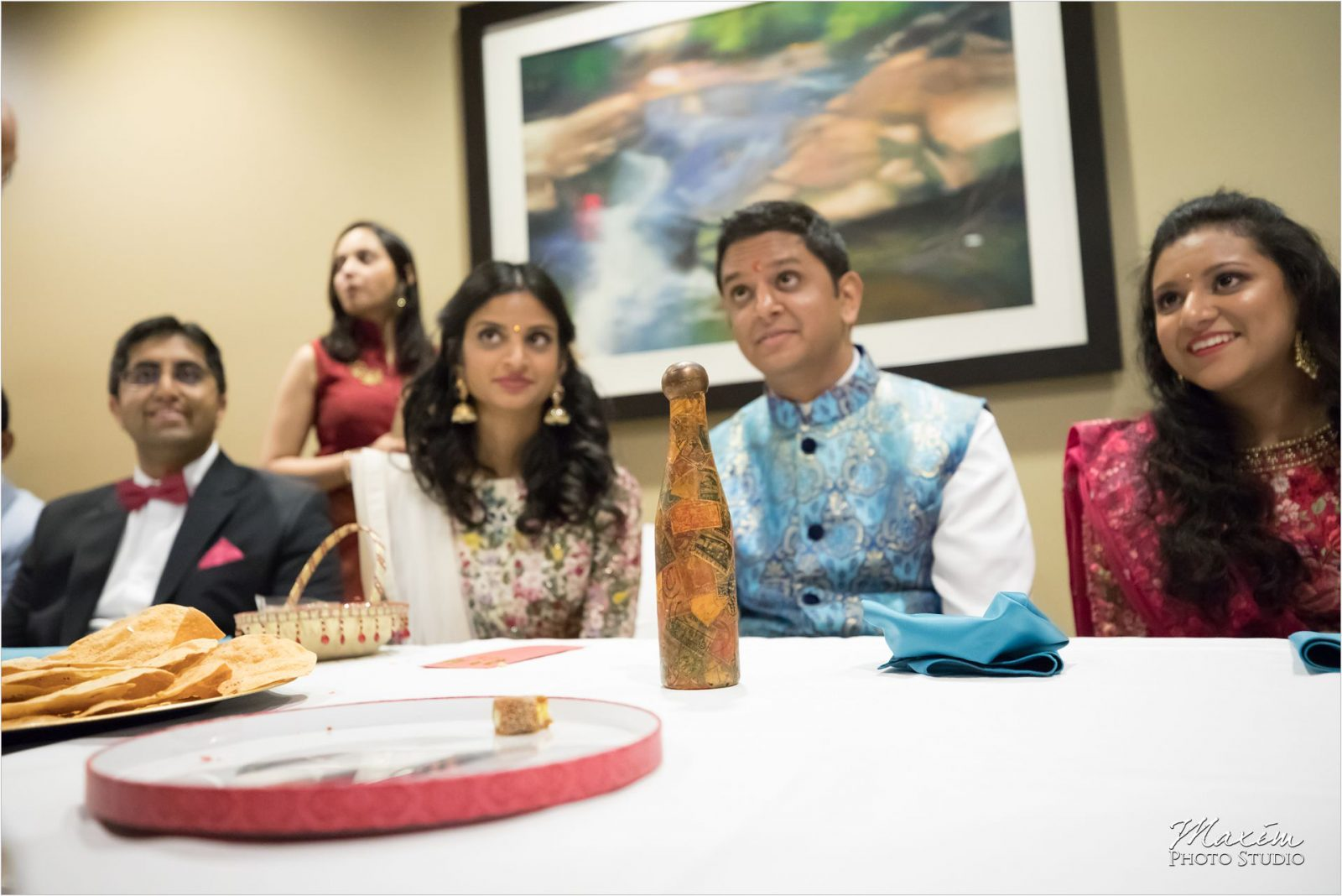 Hindu Wedding Reception Country Club of the North