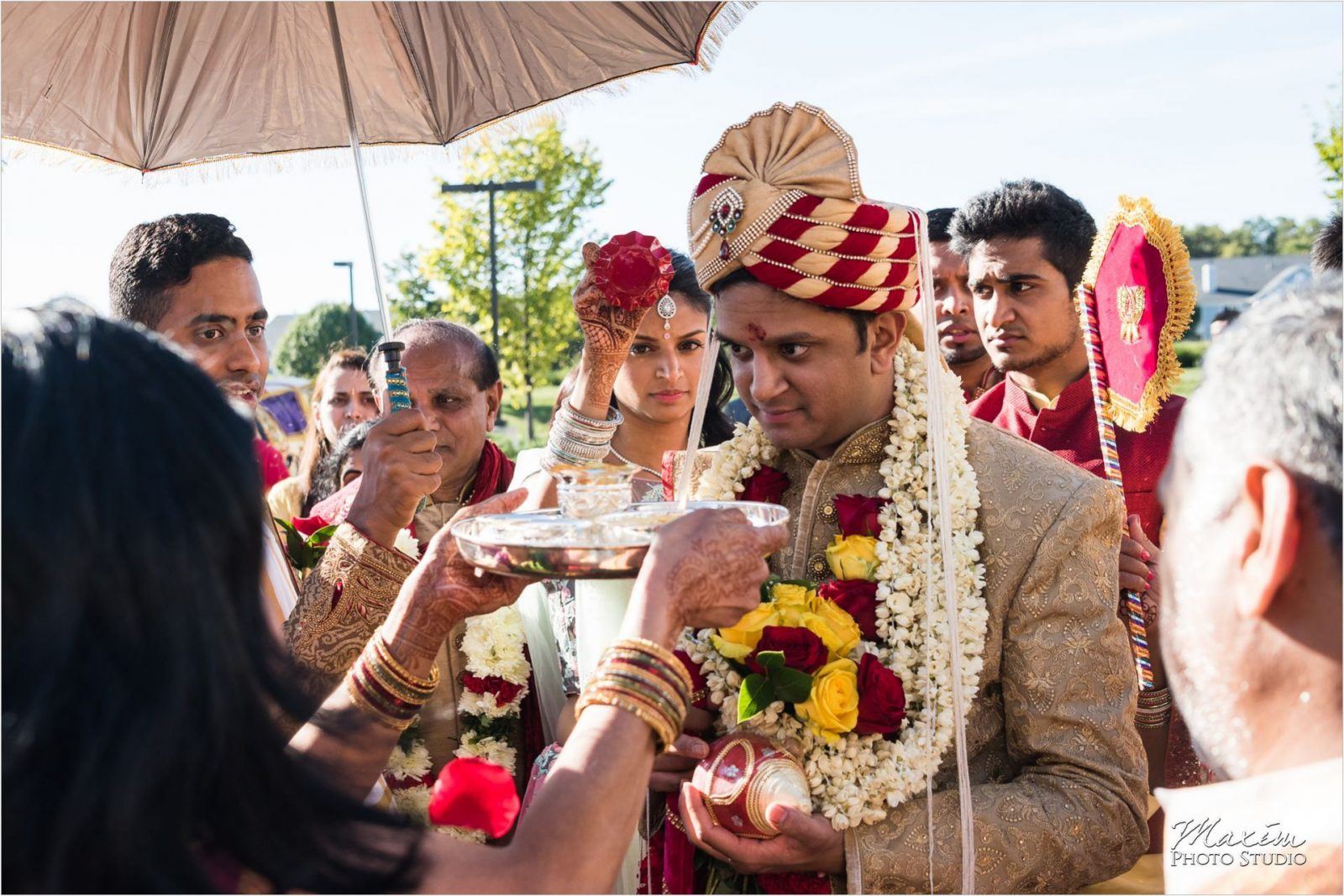 Baraat Hindu Wedding Ceremony Hindu Temple Dayton