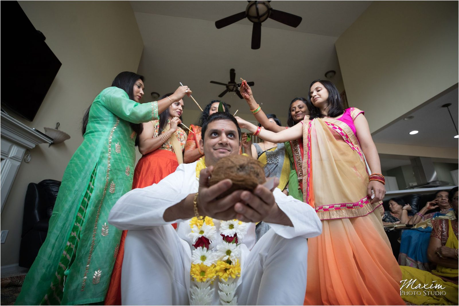 Haldi Ceremony Hindu Wedding Groom