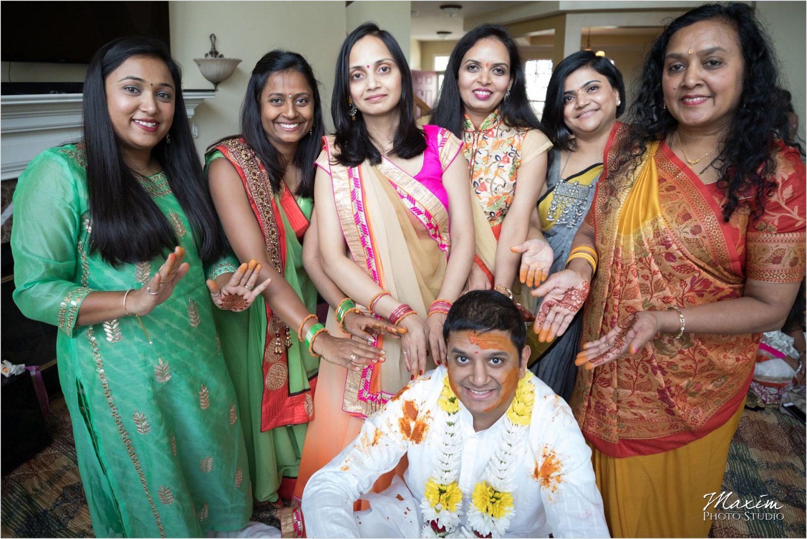 Haldi Ceremony Hindu Wedding Groom