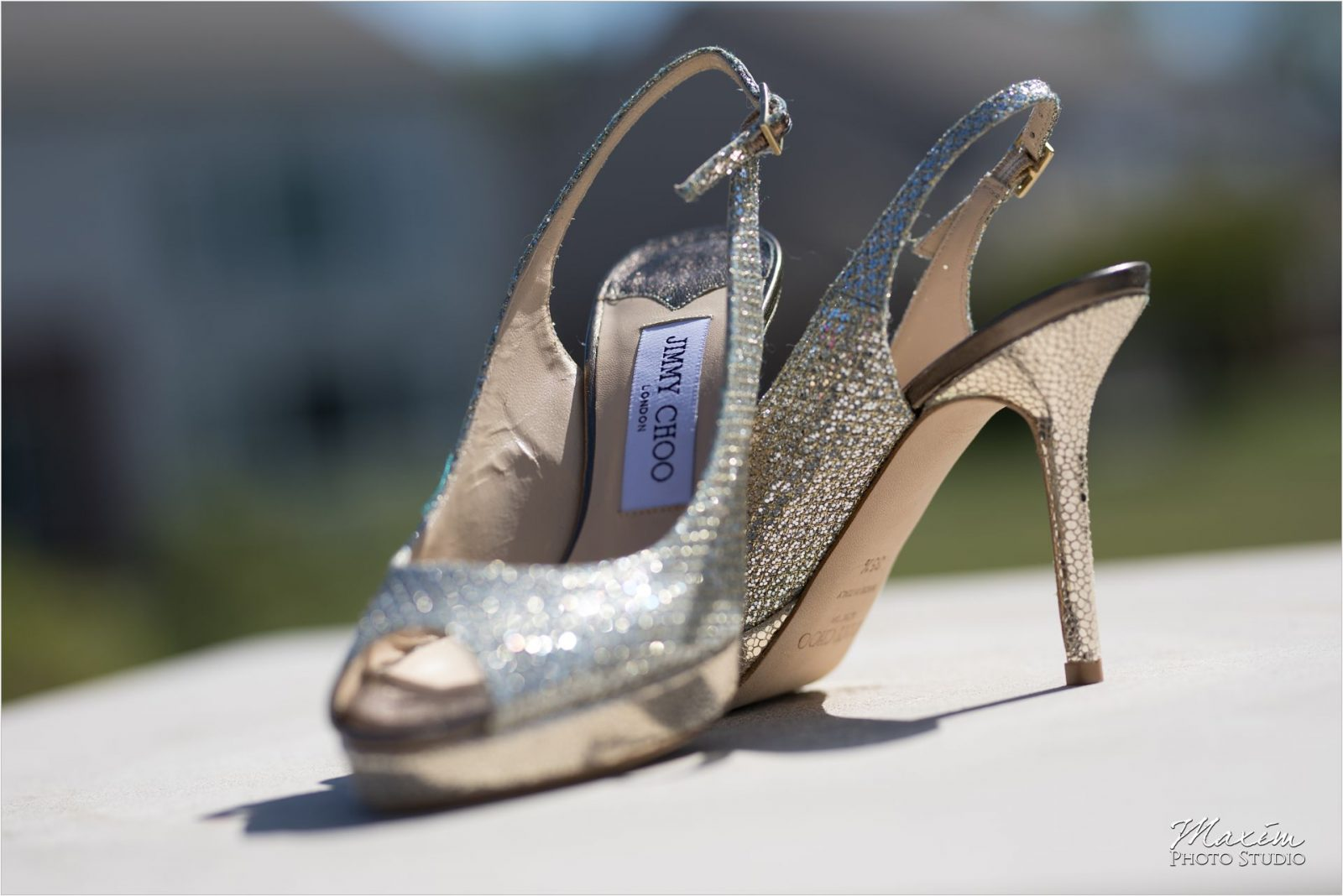 Jimmy Choo Shoes Hindu Wedding Reception Country Club of the North
