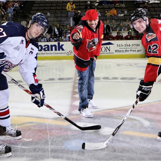 Chris Brown rapper Cincinnati Cyclones US Bank Arena Hockey