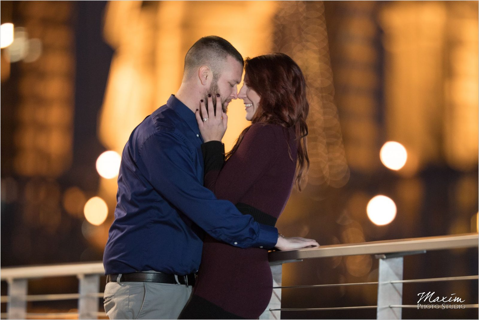 Roebling Bridge Night engagement