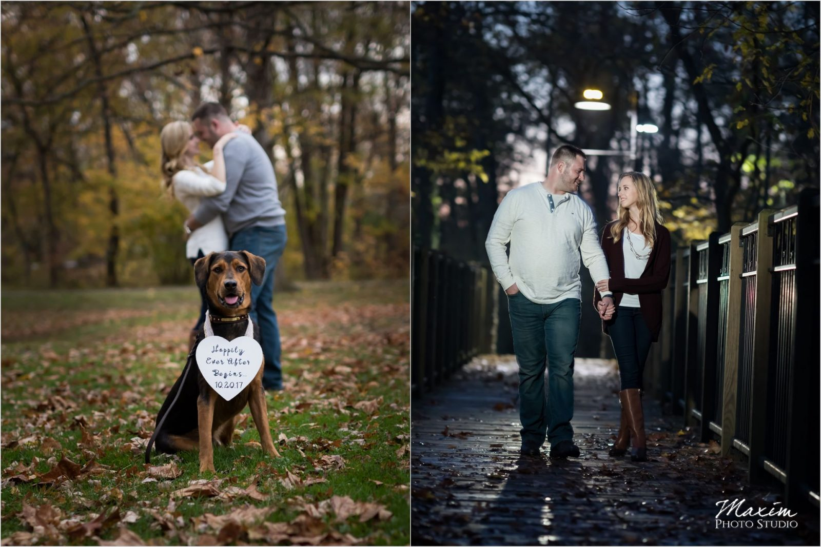 Sharon Woods Ohio night engagement