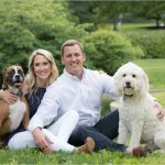 Eden Park Cincinnati Engagement Photography dogs