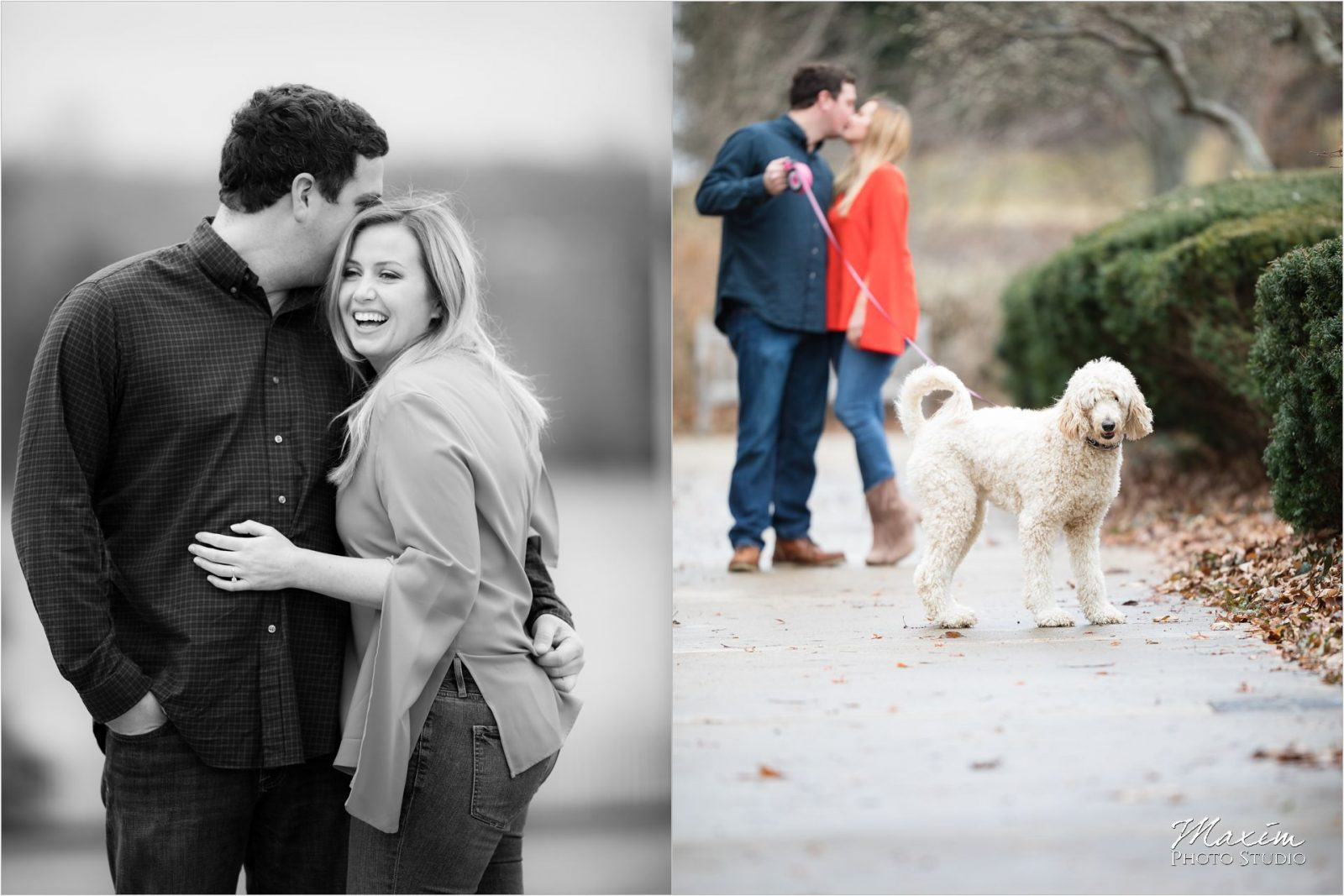 Cincinnati Wedding Photographers Ault Park Engagement Dog