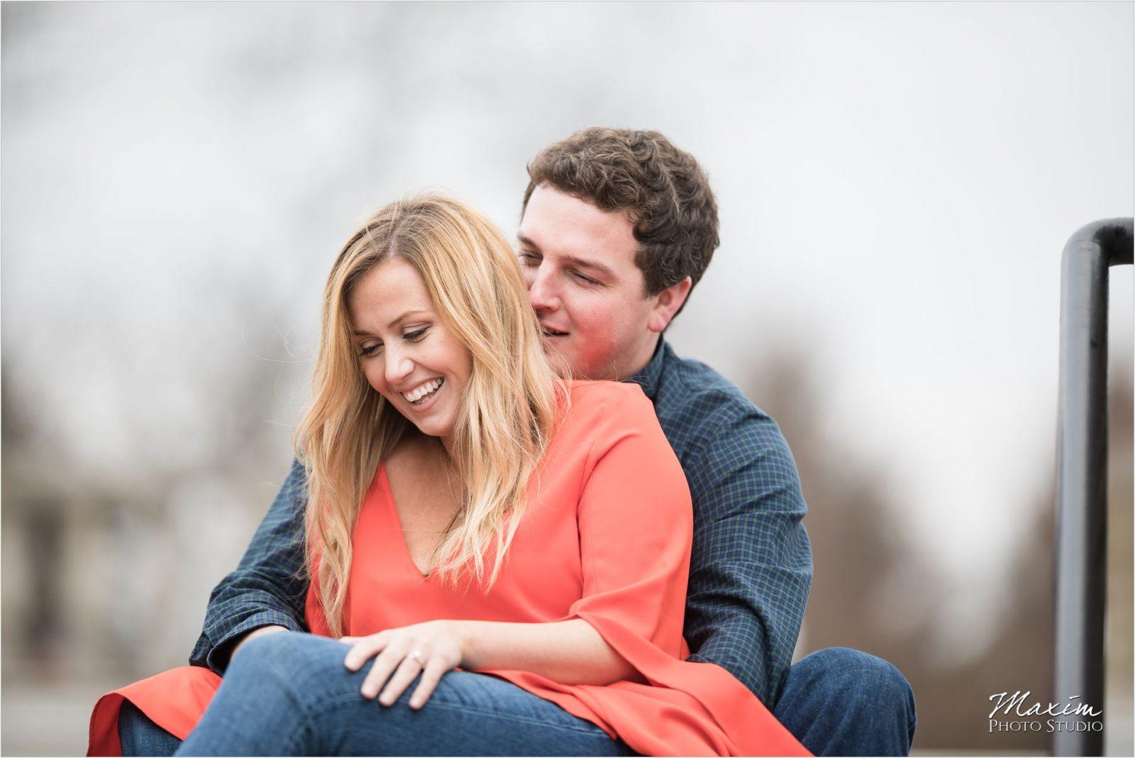 Cincinnati Wedding Photographers Ault Park Engagement couple