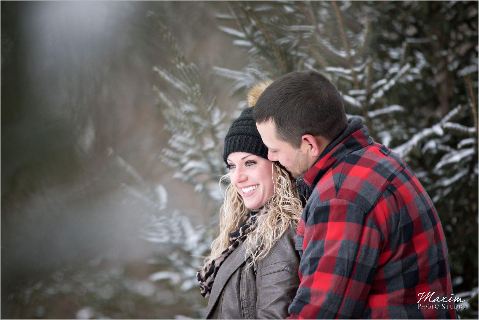 Devou Park Bombogenesis Winter Kentucky engagement