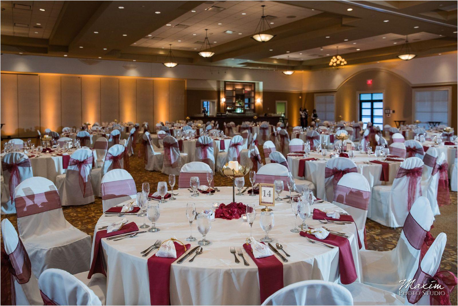 Savannah Center Cincinnati Indian Wedding Reception Decor