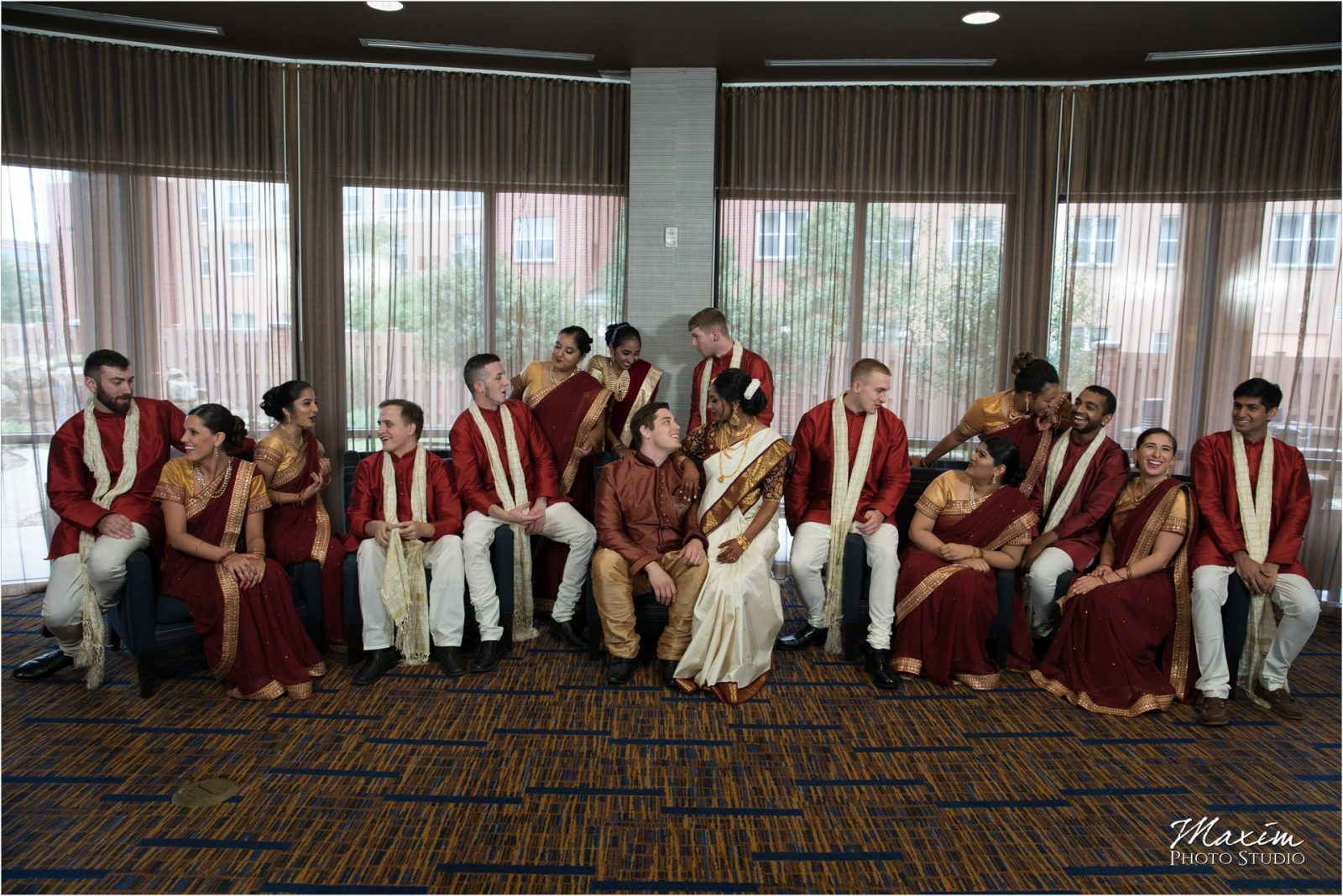 Savannah Center Indian Wedding Bridal Party Editorial picture
