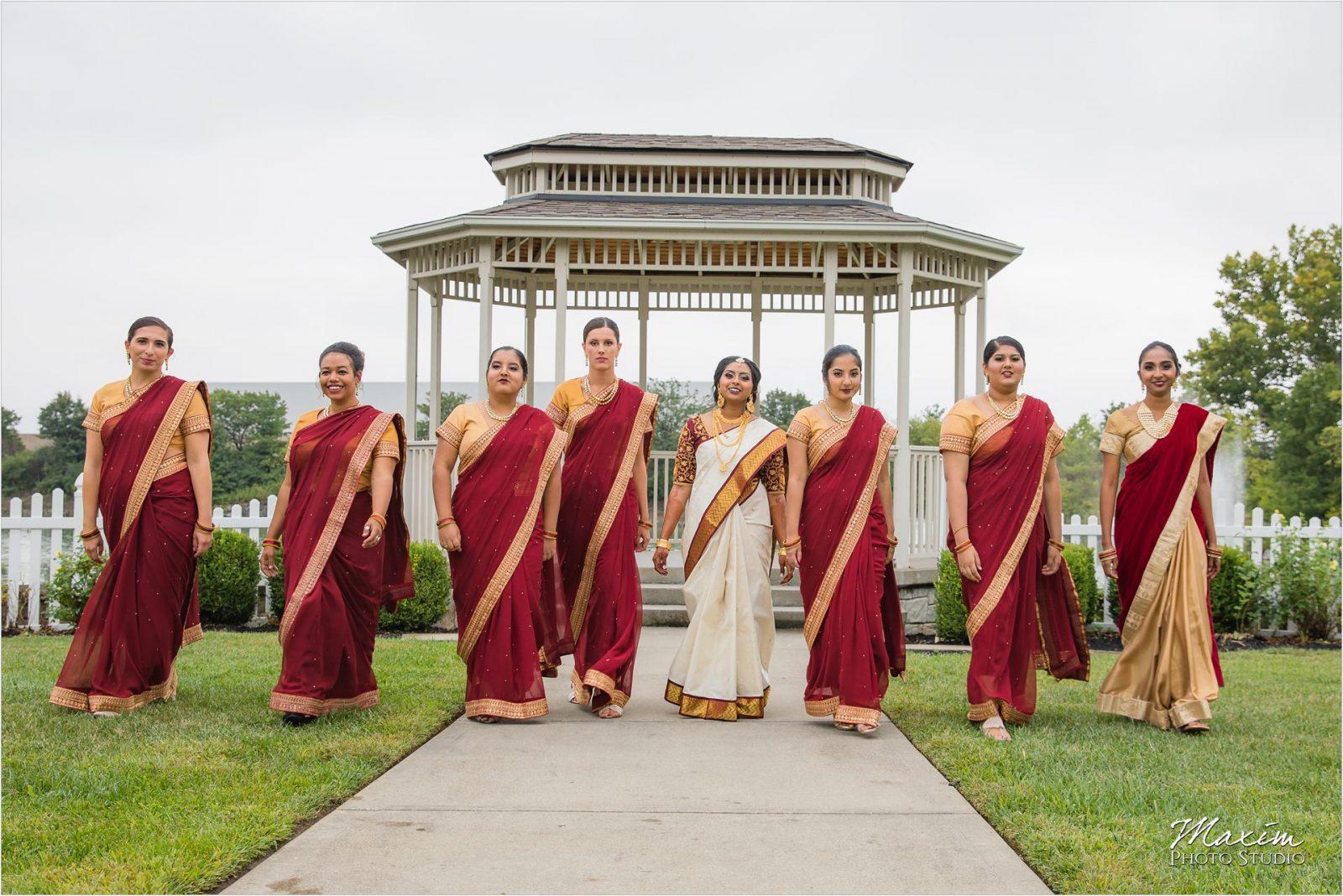 Savannah Center Cincinnati Indian Wedding Bridesmaids