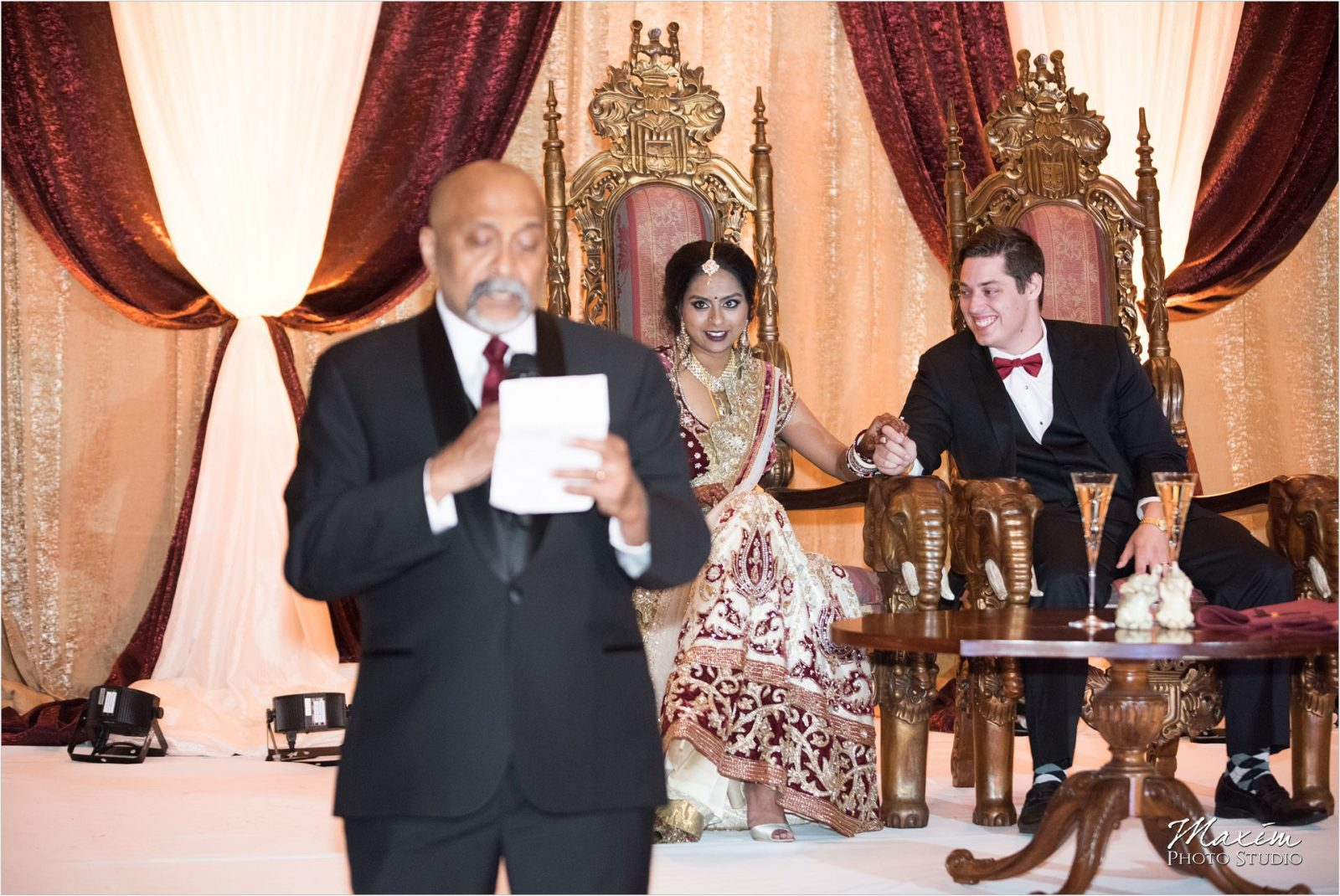 Savannah Center Cincinnati Indian Wedding Reception