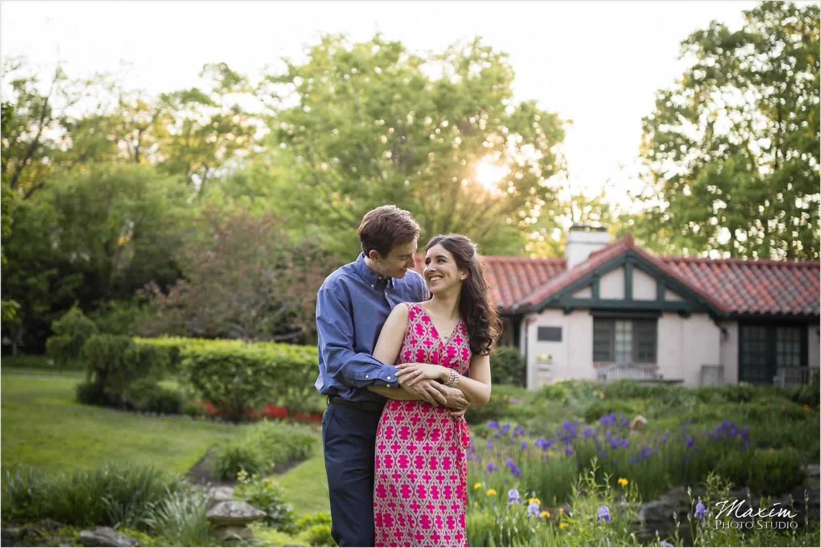 Smith Gardens Dayton Ohio engagement wedding couple