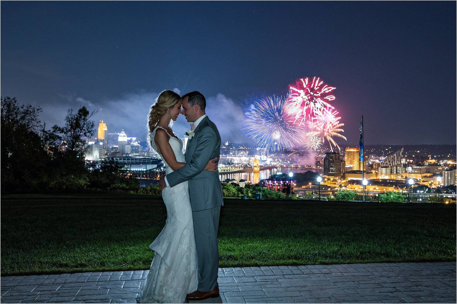 Drees Pavilion Cincinnati Wedding Reds Fireworks