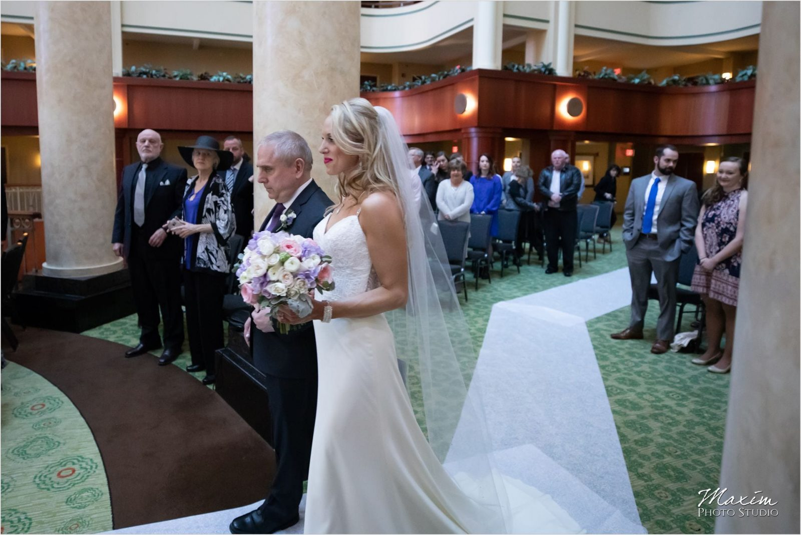 Cincinnati Marriott Rivercenter, Wedding Ceremony, Bride, Father