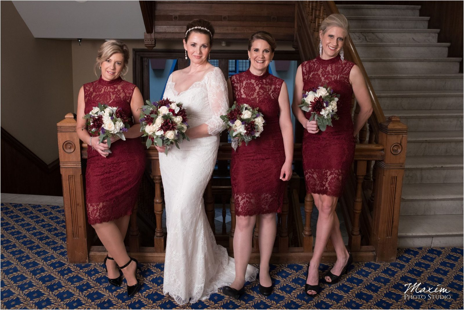 Bridesmaids Cincinnatian Hotel Wedding