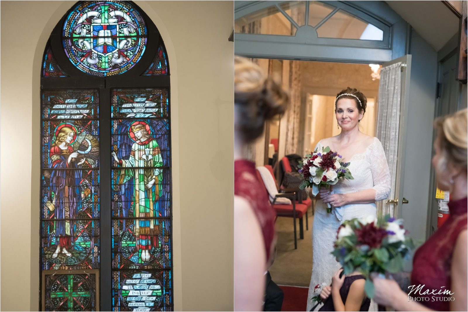 Coventant First Presbyterian Cincinnati Wedding Ceremony Bride