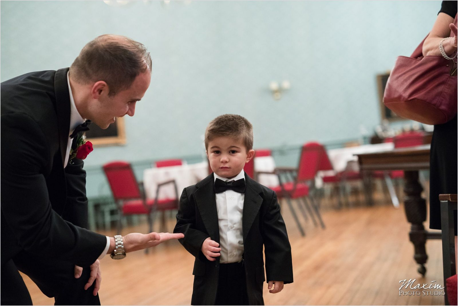 Coventant First Presbyterian Cincinnati Wedding Ceremony ring bearer
