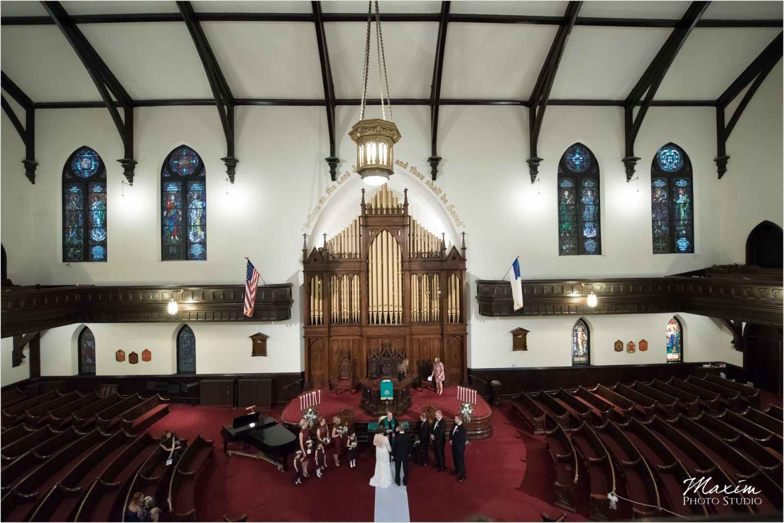 Coventant First Presbyterian Cincinnati Wedding Ceremony