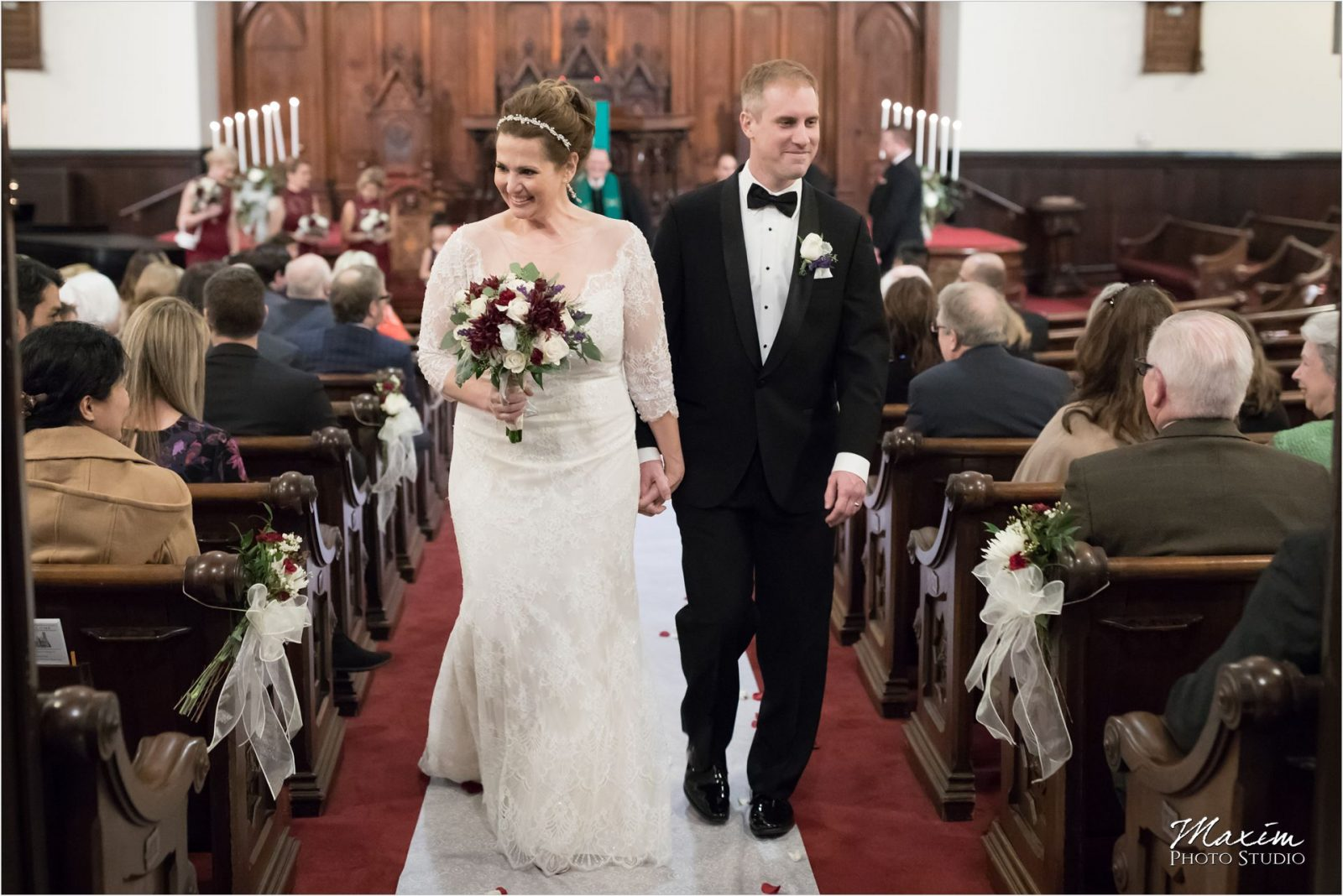 Coventant First Presbyterian Cincinnati Wedding bride groom