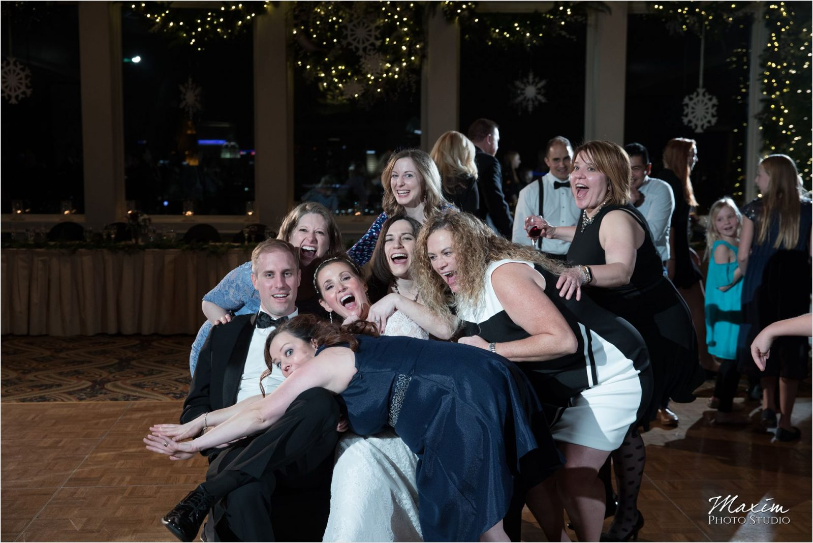 Drees Pavilion Cincinnati Wedding Reception Photo Bomb