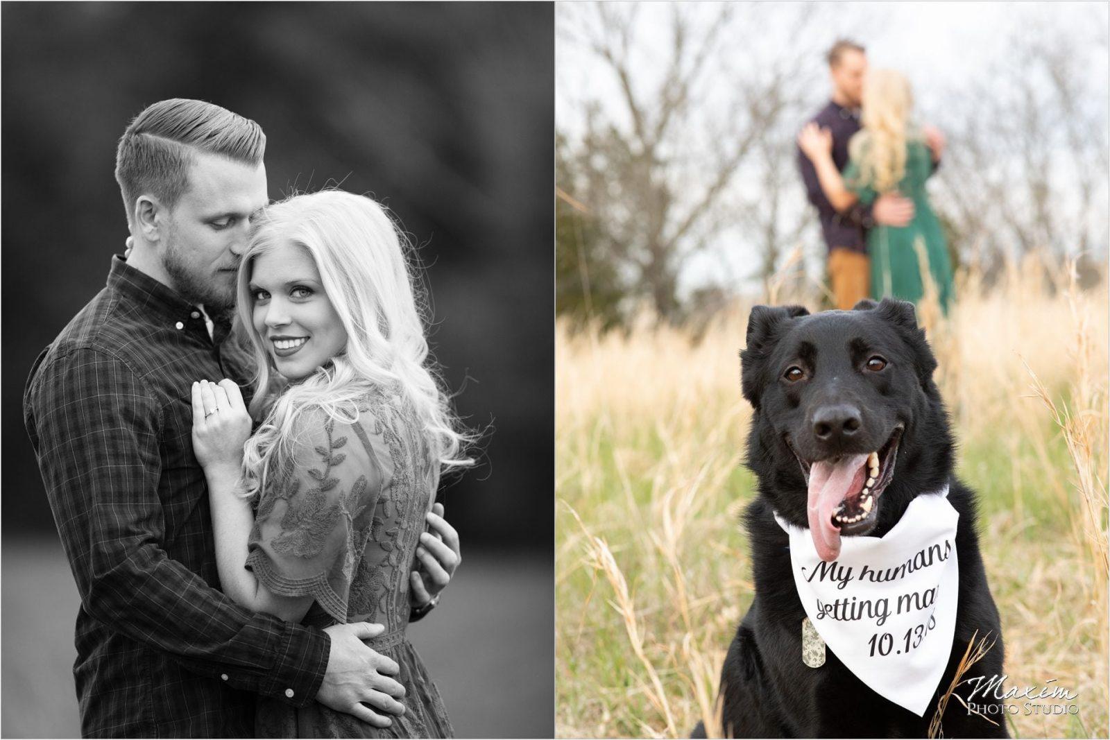 Cincinnati Wedding Photographers Kentucky Farm Engagement dog