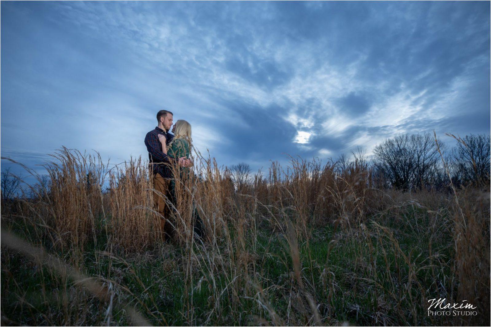 Cincinnati Wedding Photographers Kentucky Farm Engagement sunset