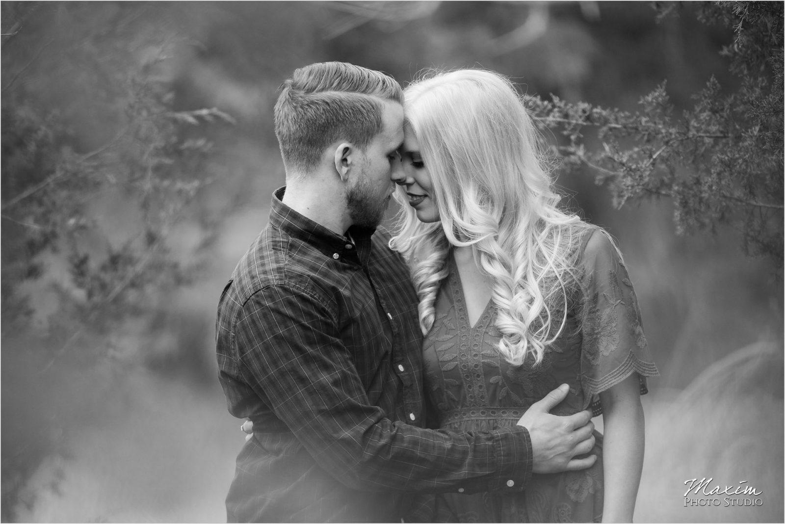 Cincinnati Wedding Photographers Kentucky Farm Engagement black white