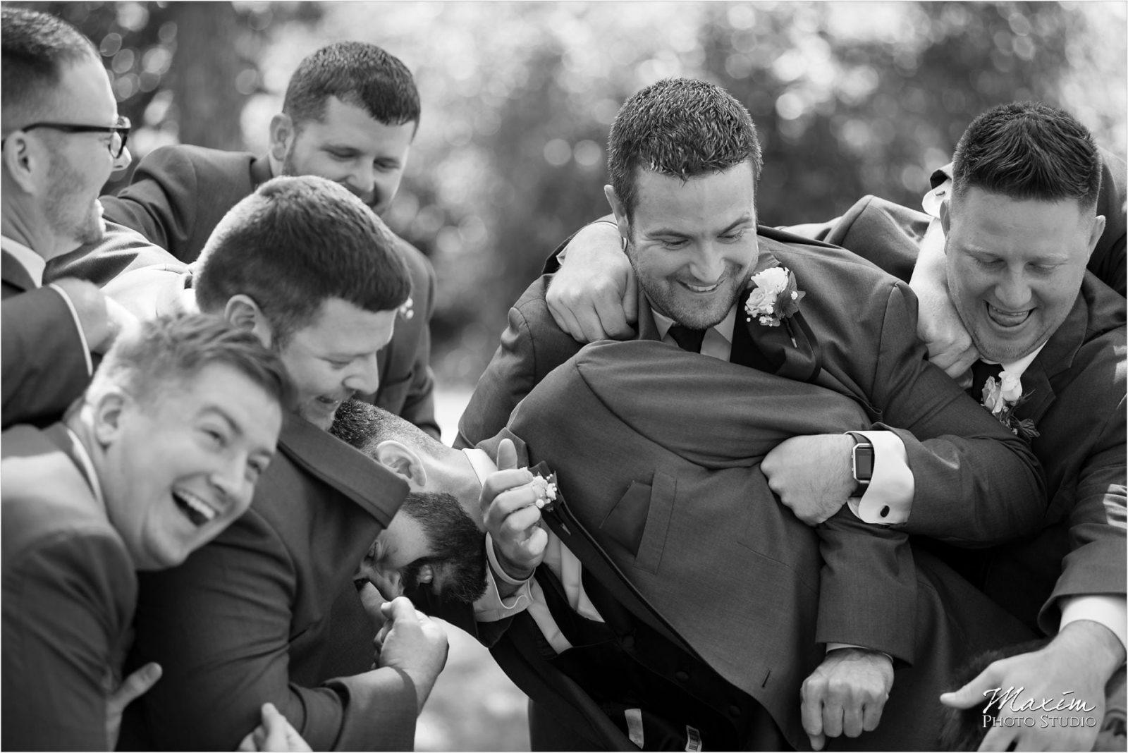 Pattison Park Wedding groomsmen