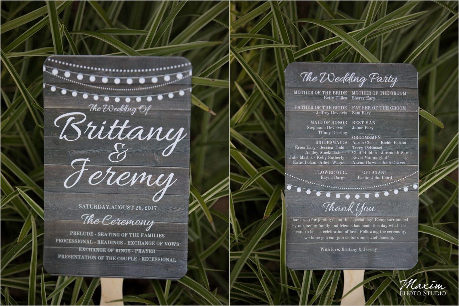 Pattison Park Lodge Wedding Ceremony
