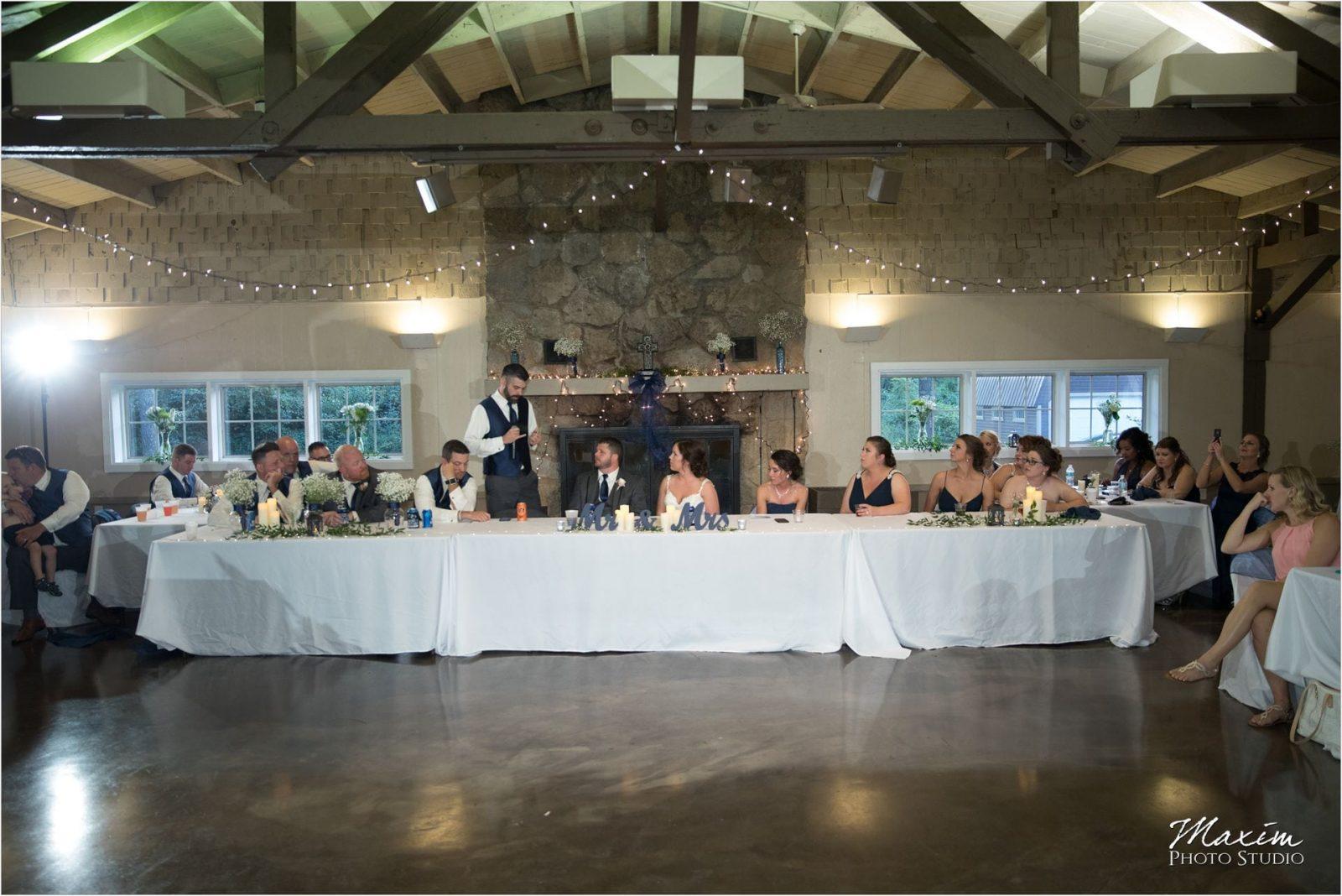 Pattison Park Lodge Wedding Reception
