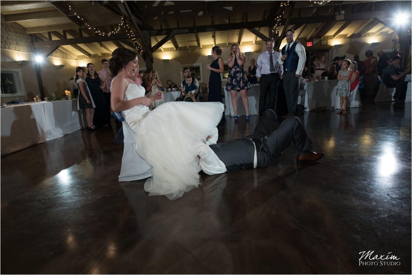 Pattison Park Wedding Reception garter