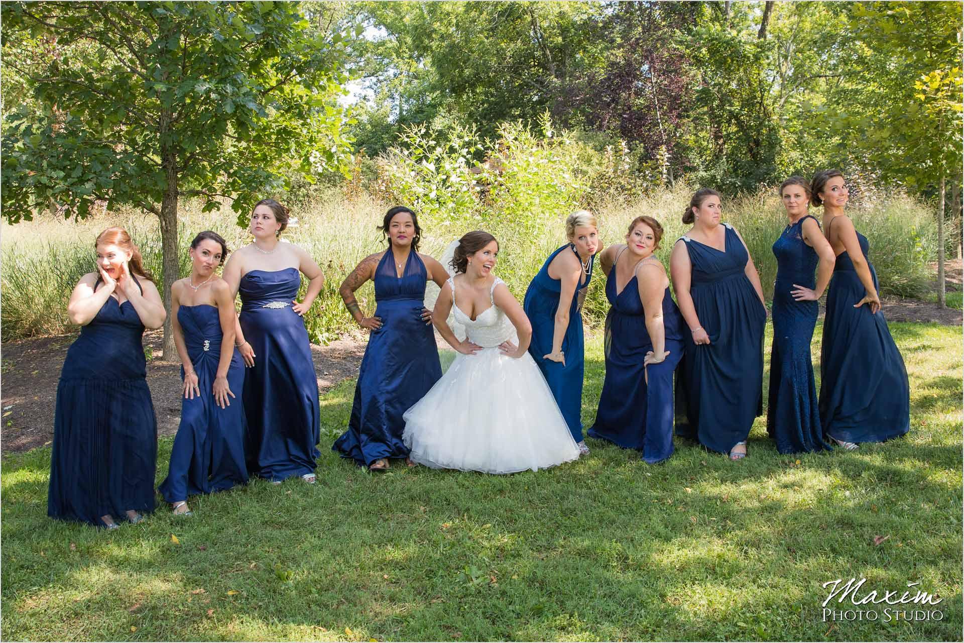 Pattison Park Wedding Bride bridesmaids