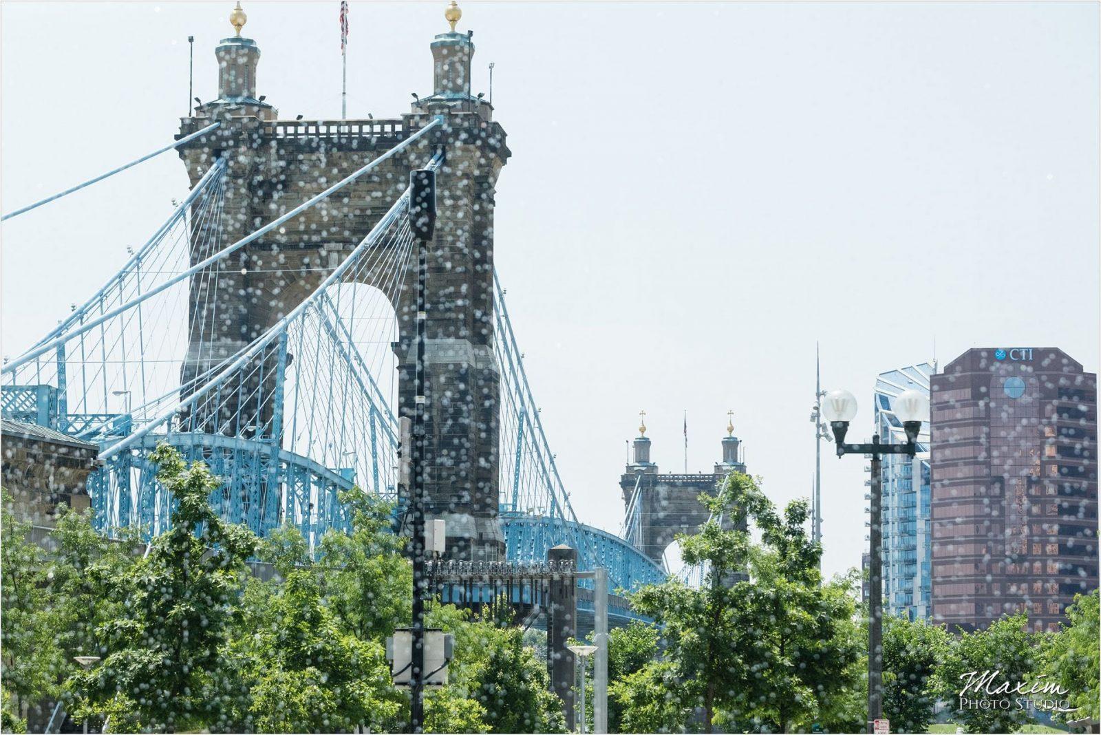 Roebling Bridge Cincinnati Wedding Anderson Pavilion